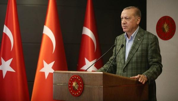 Cumhurbaşkanı Erdoğan: Kendi halkına silah çekenlere en güzel cevap bu eserdir