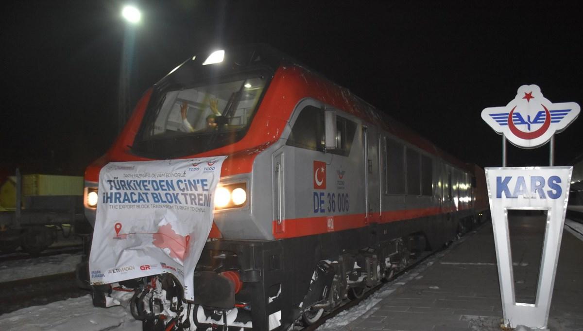 Çin'e gidecek ihracat treni Kars'tan Gürcistan'a uğurlandı