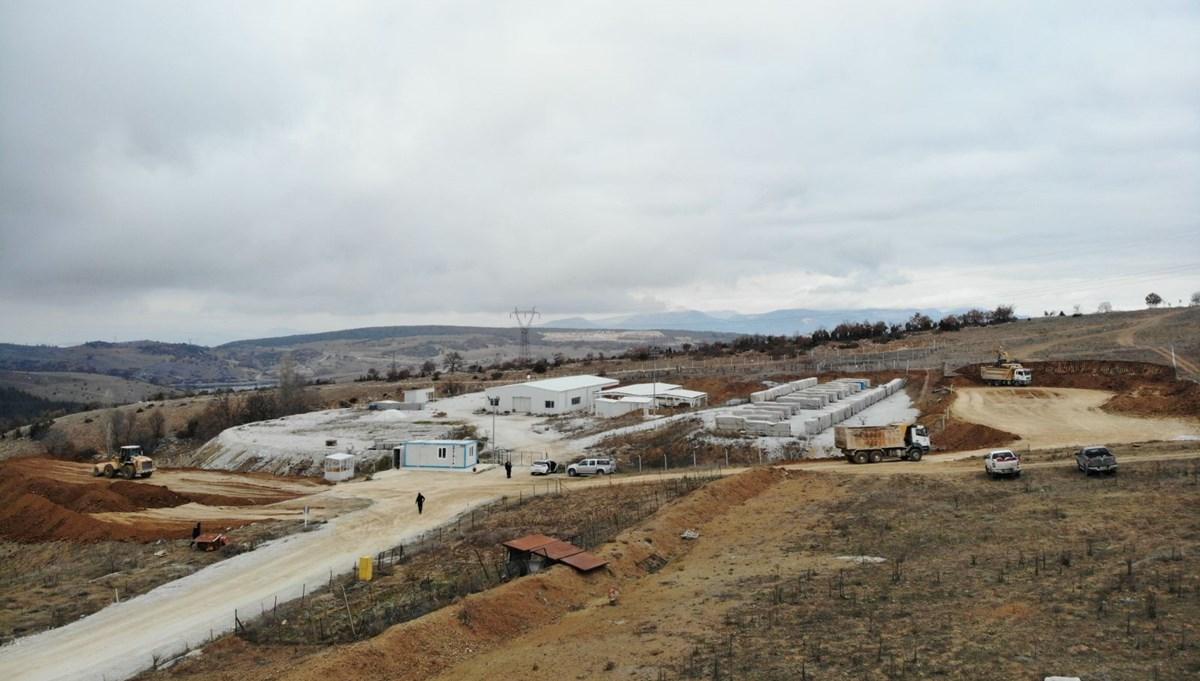 Söğüt'teki dev altın rezervinin bulunduğu saha görüntülendi